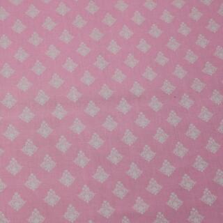 Baumwollstoff franzosische Ornamente auf rosa
