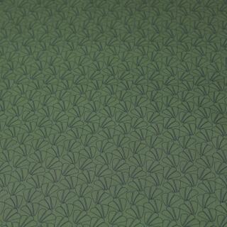 Baumwolle Elasthan Druck oliv mit Fächer
