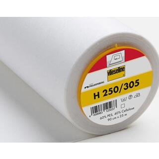 H250 Bügeleinlage weiß Standard 90cm  60 % Polyester; 40 % Zellstoff Vlieseline