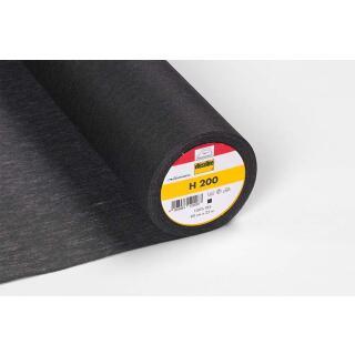 H200 Bügeleinlage schwarz Softline 90cm  100 % Polyester Vlieseline